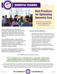 Dementia Training Flyer