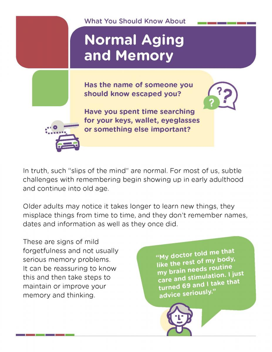 What You Should Know About Normal Aging And Memory