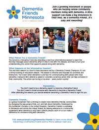 Dementia Friends Information Session Flyer